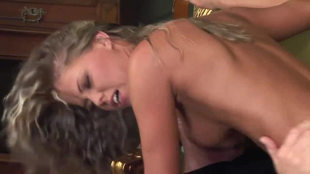 Sexy blonde girl gets cream pie at porn casting - hd - cum inside her